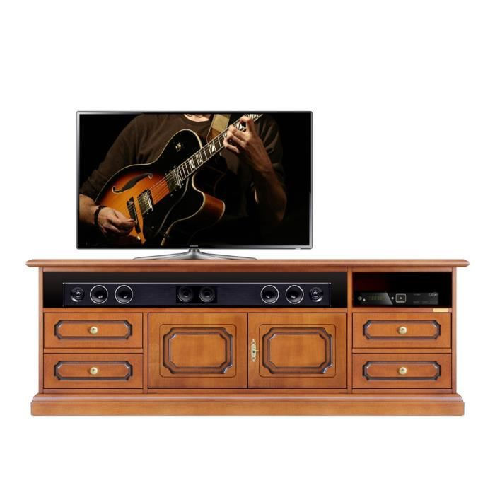 meuble buffet tv barre de son classique achat vente meuble tv meuble buffet tv barre de s. Black Bedroom Furniture Sets. Home Design Ideas