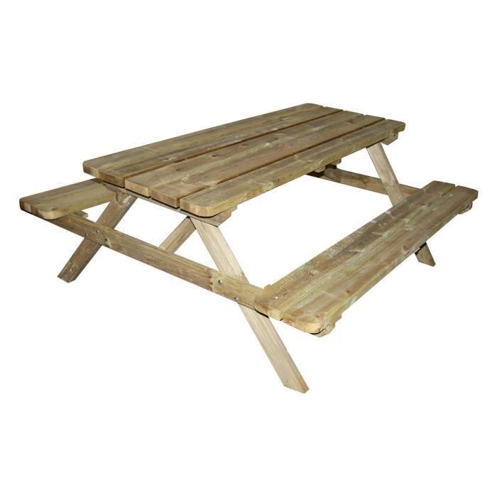 Table De Pique Nique Forestiere Bois 4 6 Places Achat Vente