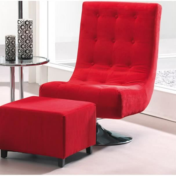 fauteuil rouge velours achat vente fauteuil rouge velours pas cher cdiscount. Black Bedroom Furniture Sets. Home Design Ideas