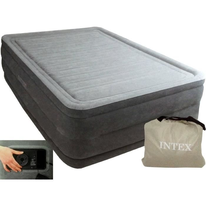 Intex Lit Gonflable 2 Personnes Comfort Plush High Achat Vente