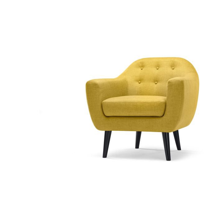 ritchie fauteuil jaune ocre achat vente fauteuil. Black Bedroom Furniture Sets. Home Design Ideas