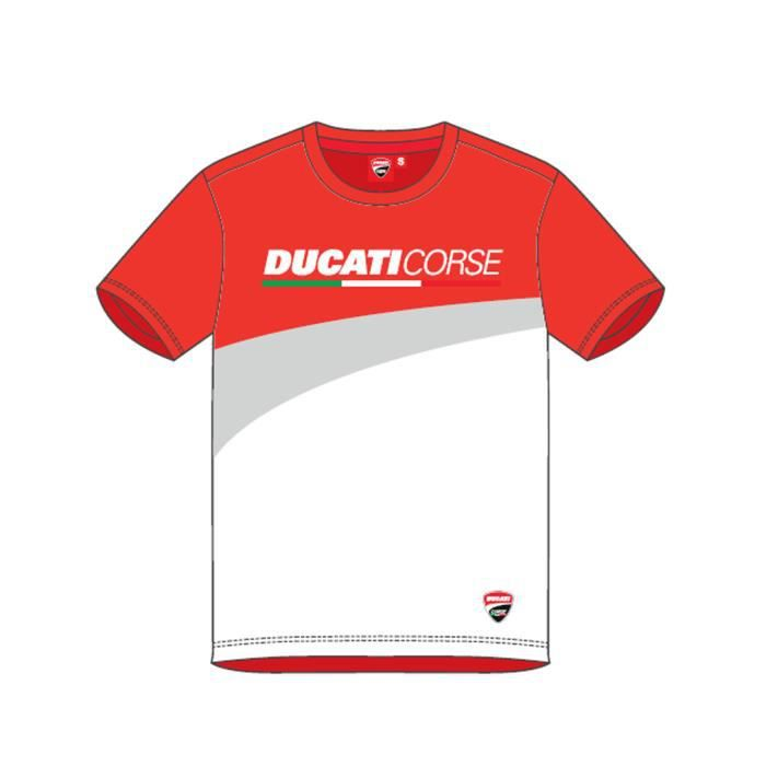 Ducati Corse Moto GP Racing Contrast Enfant Rouge T shirt