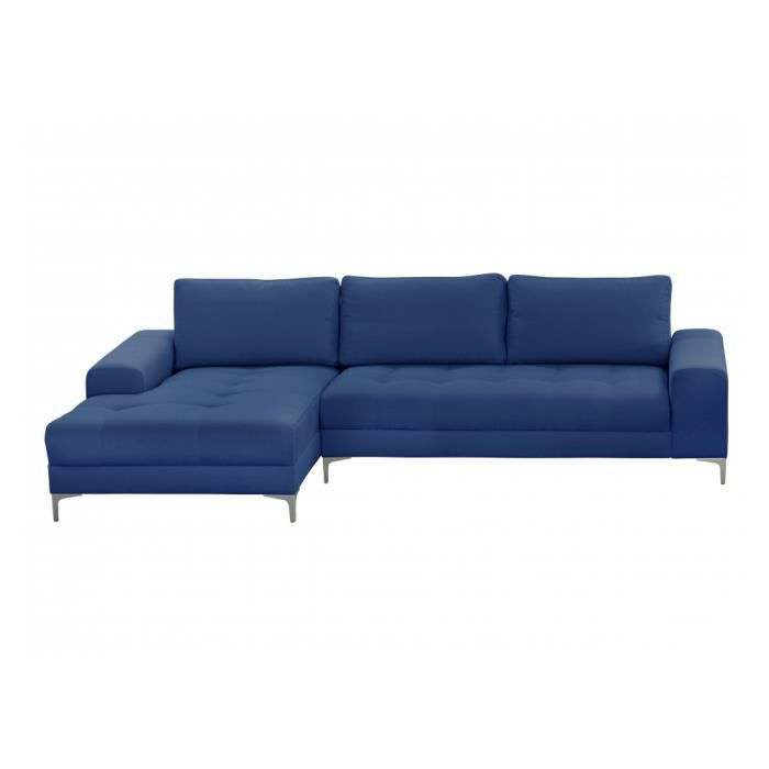 canap d 39 angle antibes microfibre bleu achat vente canap sofa divan cdiscount. Black Bedroom Furniture Sets. Home Design Ideas