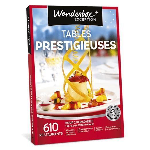 COFFRET GASTROMONIE Wonderbox - Coffret cadeau en couple - Tables pres