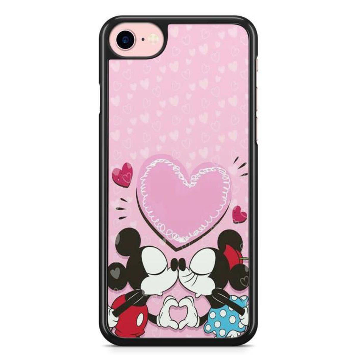 coque iphone 7 et 8 mickey minnie st valentin etui