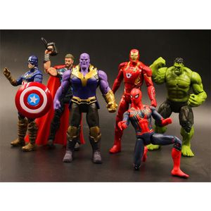 POUPÉE 6 Pcs 7 pouces Avengers US capitaine escadron Iron