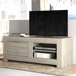 MEUBLE TV Meuble tv contemporain MELISSA L 140 x P 51 x H 55
