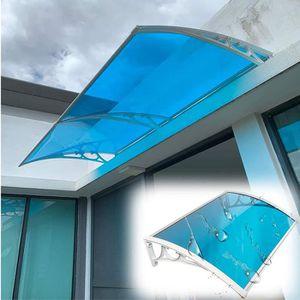pour Protection Solaire ext/érieure Protection Contre la Pluie JEOBEST Auvent pour Porte et Fen/êtres 60 x 100 cm Marron Auvent Marquise Transparent Polycarbonate