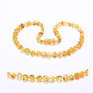 COLLIER AMBRE collier d ambre(Lemon) - 3 Taille(28cm & 33cm & 35