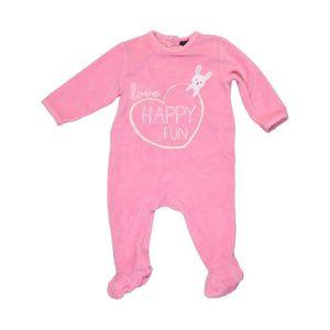 Pyjama 1 Pièce Bébé Fille Kiabi 12 Mois Rose Hiver