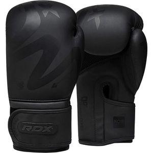 GANTS DE BOXE RDX Gants de Boxe Muay Thaï Kick Boxing   Mat Noir