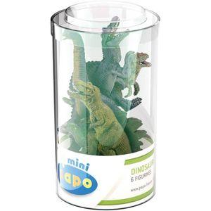 FIGURINE - PERSONNAGE PAPO Tube de 12 Mini Plus Figurines Dinosaures Pou