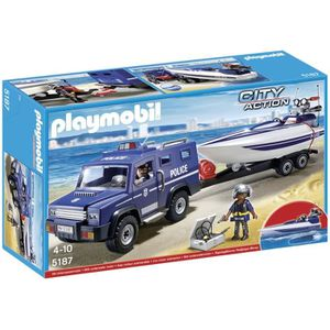 UNIVERS MINIATURE PLAYMOBIL 5187 - City Action - Fourgon et Vedette