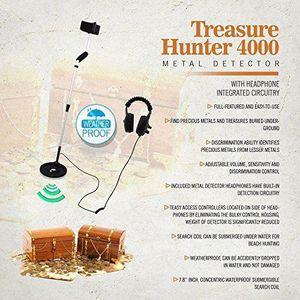 DÉTECTEUR DE MATÉRIAUX Pyle Treasure Hunter 4000 Détecteur de métaux prof
