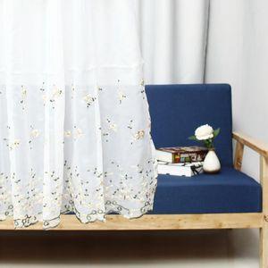 RIDEAU 150X65CM Chambre Voilages Rideaux Fleurs Broderie