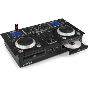 PLATINE DJ Double lecteur CD Amplifié VONYX CDJ500 - MP3 - US