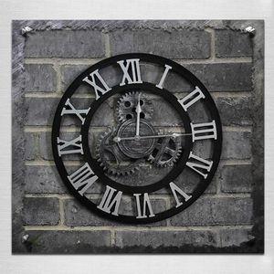HORLOGE - PENDULE Horloge murale argent Originalité American Style I