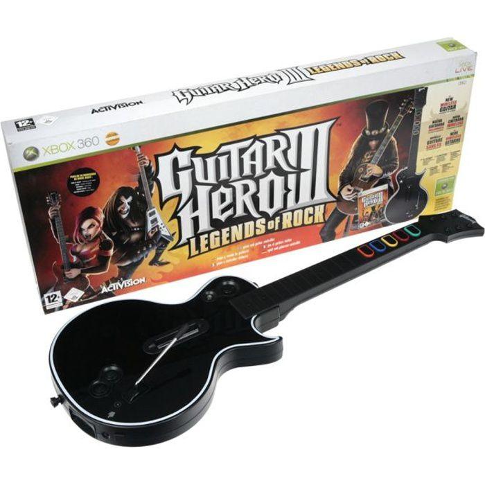JEU XBOX 360 GUITAR HERO 3 (Jeu + Guitare) / Jeu console XBOX36