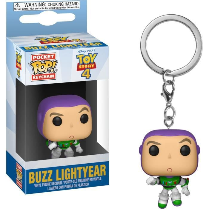 Porte-clés Funko Pocket Pop! Disney :  Toy Story 4 - Buzz Lightyear ( Buzz l'Éclair )