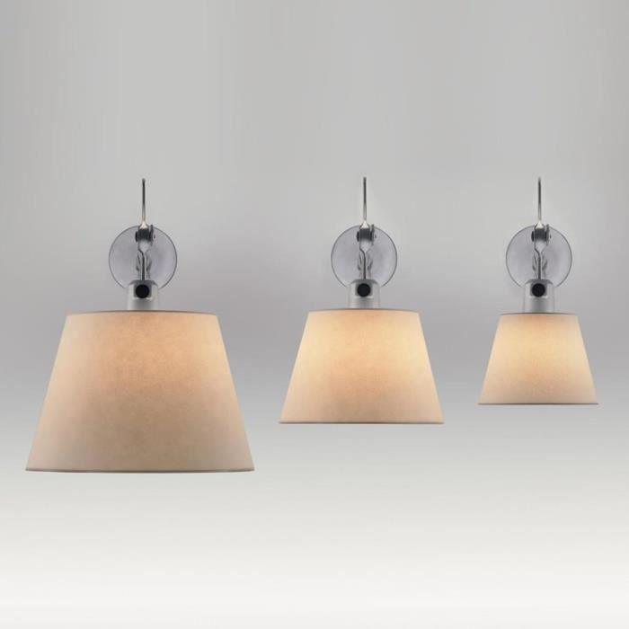 TOLOMEO-Applique Orientable Halogène L24cm bras aluminium poli et abat-jour ivoire Artemide - designé par Michele De Lucchi &