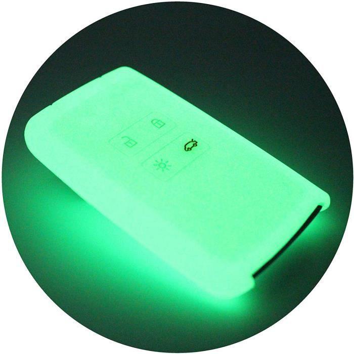 Coque en silicone Finest-Folia - Pour clé de voiture à 4 boutons Nachtleuchtend 1013