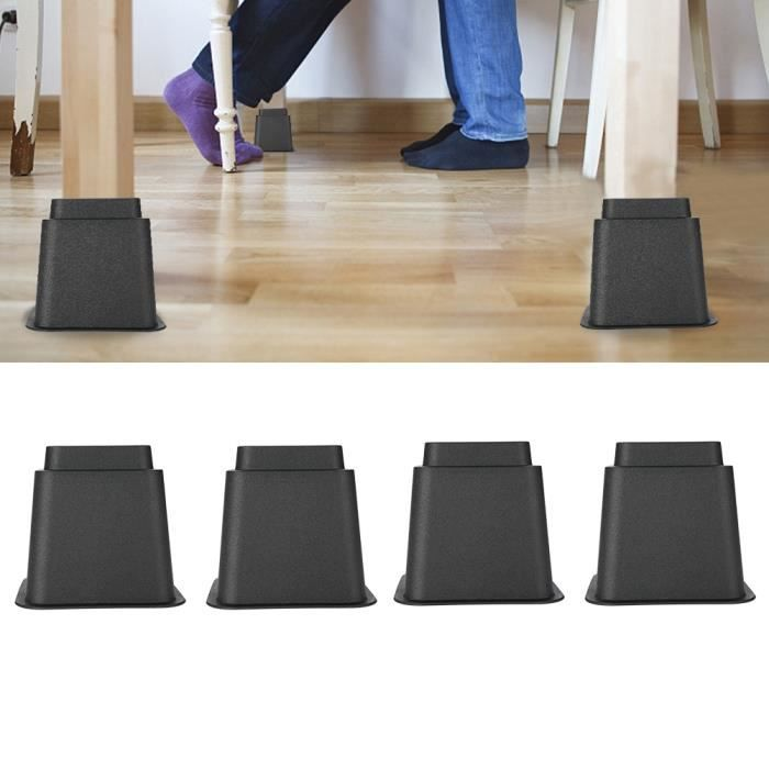 4pcs 3 - KR-P0257 Rehausseurs de meubles réglables pour chaise lit