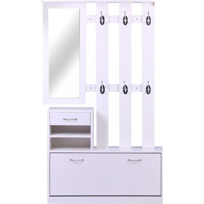 Meuble d'entrée design HELLO blanc