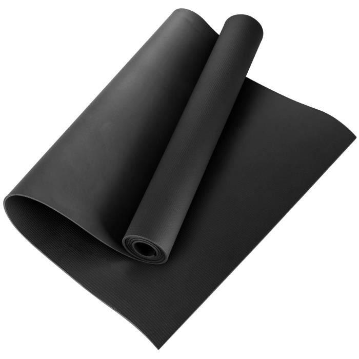 Tapis de sol Tapis de sport Tapis de gymnastique Tapis de yoga en Mousse 173 * 60 * 0.4cm Noir , EVA Tapis de fitness antidérapant