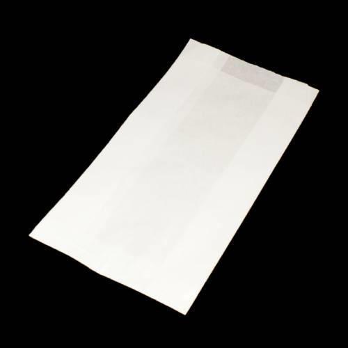 Lot de 100 sachets kraft blanc 35gr 18+6x31 - 6162 Blanc