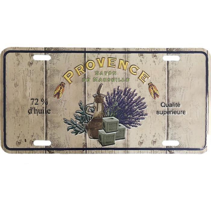 Plaque decorative metallique Provence