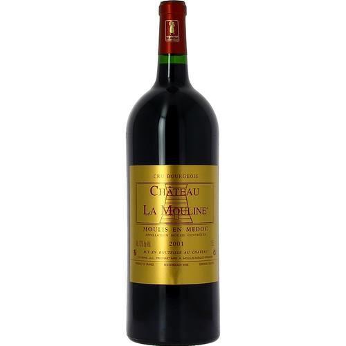 3 bouteilles - Vin rouge - Tranquille - CHATEAU LA MOULINE Château La Mouline Moulis Rouge 2001 3x150cl