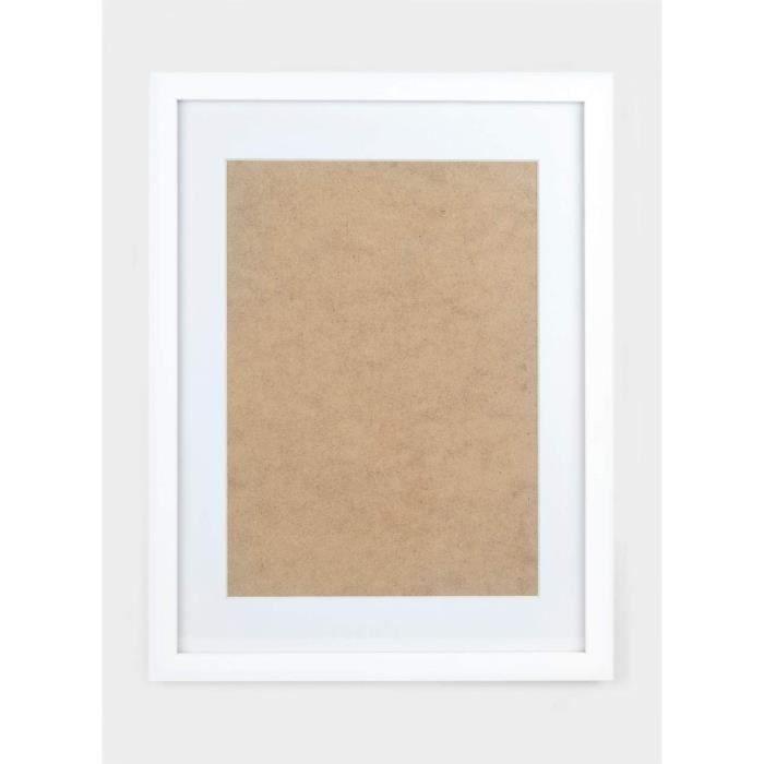 CADRE PHOTO Deko Studio Cadre photo en bois v&eacuteritable - 30 x 40 cm - Avec panneau pour photos au format A4 - Fabriqu&eacu219