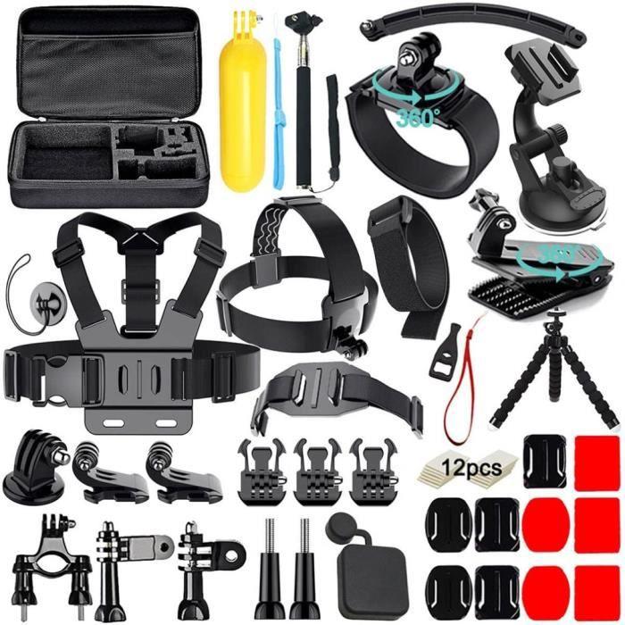Pour Gopro Hero5 Set d'accessoires pour Go Pro Hero Kit Accessoires pour appareil photo multicolore