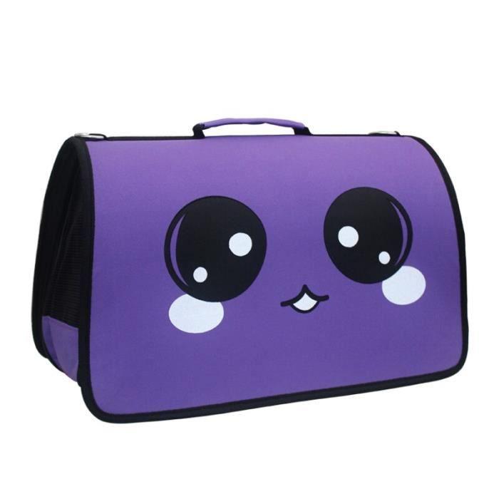Sac de transport,Sacs de transporteur pour animaux de compagnie chat chien sac à dos à bandoulière sac - Type VIOLET-L34xW19xH27cm