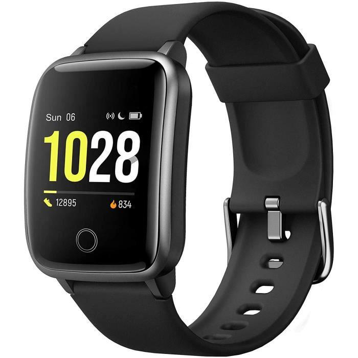 Montre Connectée Femmes Smartwatch avec IP68 Etanche Sommeil Moniteur de Fréquence Cardiaque Chronometre Calories Podometre Montre I