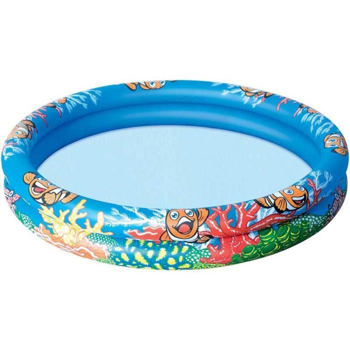 BESTWAY Piscine gonflable océan life - 122 cm x 20 cm