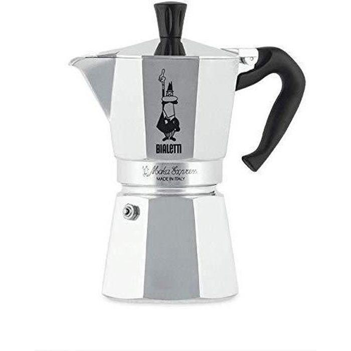 Bialetti 0001163 Cafetière Italienne, Aluminium, Argent, 6 Tasses
