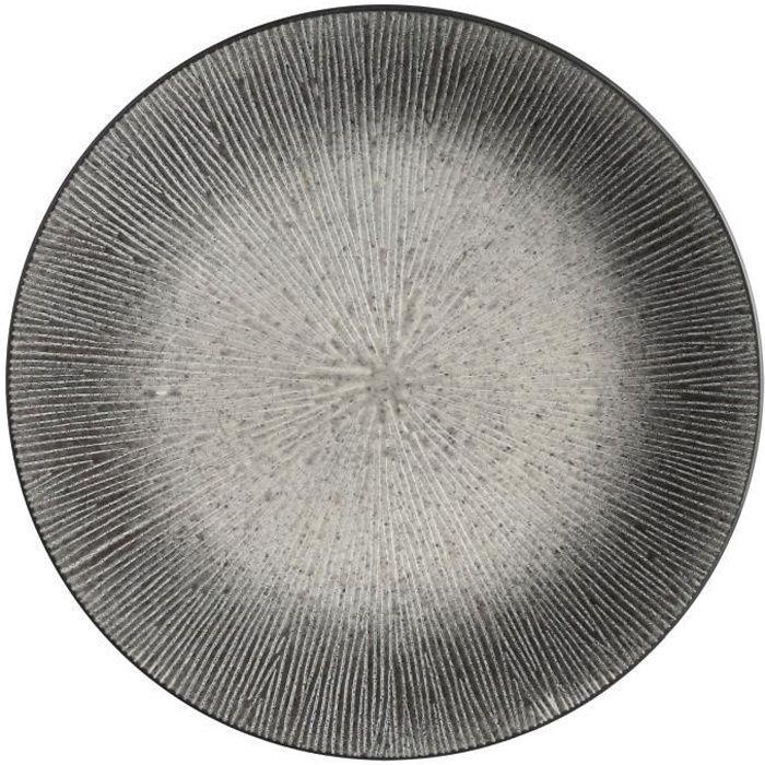 Assiette plate Atelier - Céramique - Gris