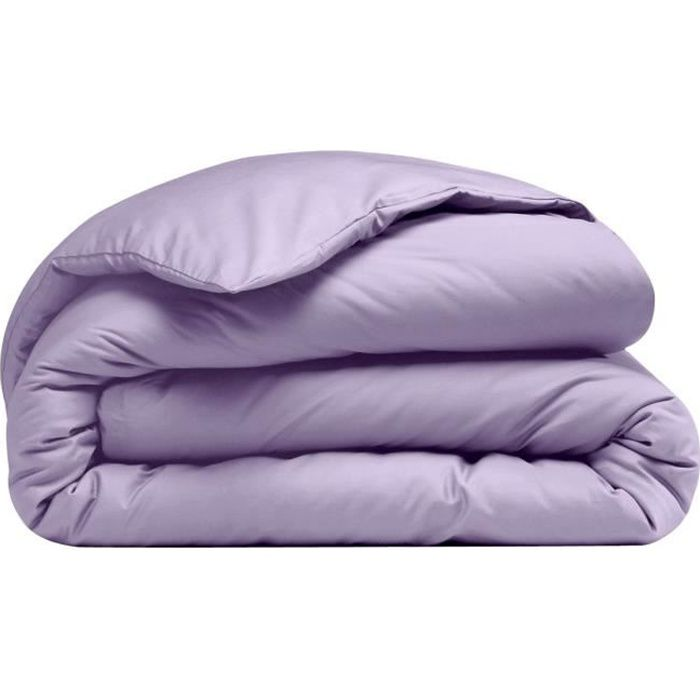 Housse de couette Coton Violet Uni 140 x 200 cm