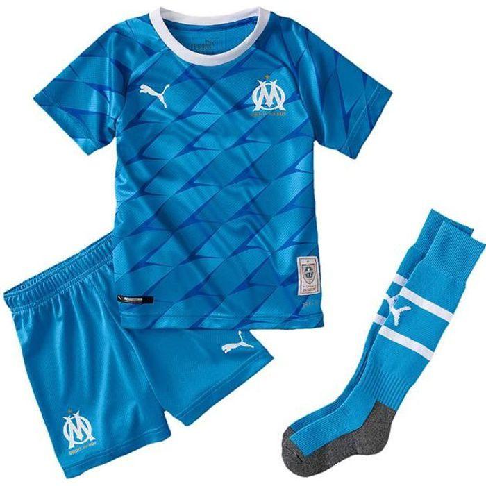 Ensemble minikit football Om away minikit blue cdt - Puma
