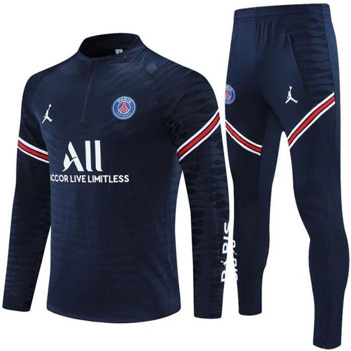 Maillot Foot NIKE Jordan x PSG 2021 2022 Survêtements Foot Homme Enfants Nouveau - Bleu
