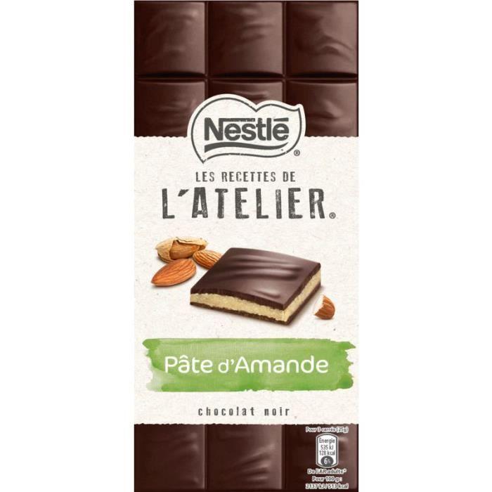 Nestle Les recettes de l'atelier Chocolat noir Pâte d'amande 150g