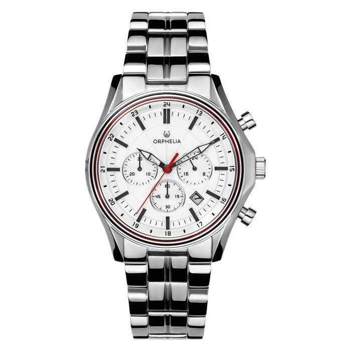 ORPHELIA - Montre Homme - Quartz Chronographe - Bracelet Acier inoxydable Argent - OR82810