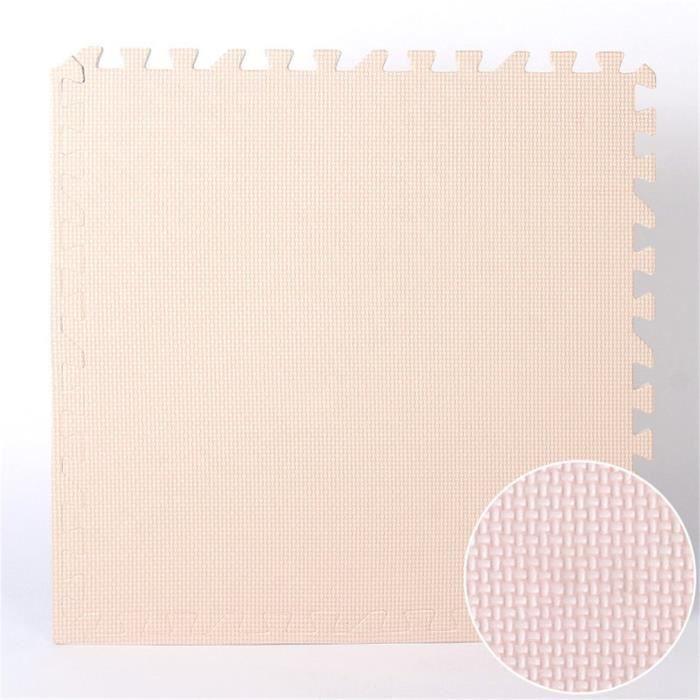9pcs tapis de sol puzzle tapis mousse bebe jeu enfant puzzle mat 30x30cm beige