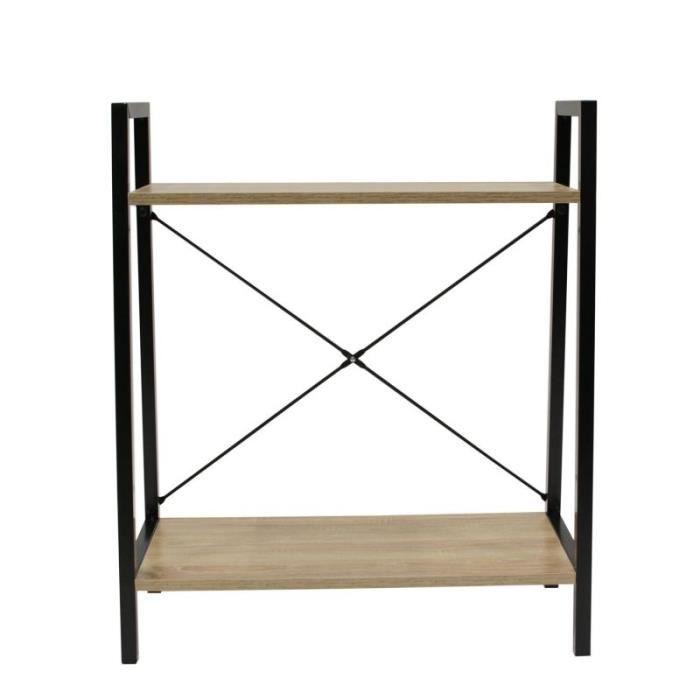 étagère Design 2 Niveaux -funat- 70cm Naturel - Paris Prix Beige