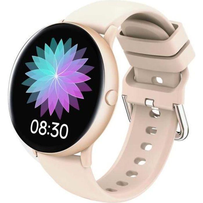 PIMPIMSKY Montre Connectée Femme - Montre Intelligent tactile Fréquence cardiaque-calories Smart watch Sport