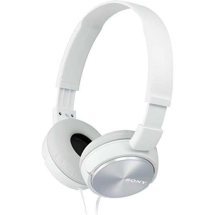 SONY - Casque arceau téléphonie blanc