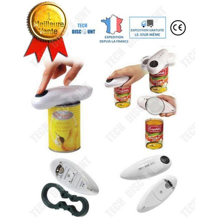 TD® Ouvre boîte électrique de conserve manuel professionnel à une main automatique professionnel cuisine bocal tous types intelligen