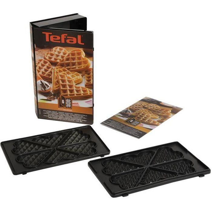 TEFAL Accessoires XA800612 lot de 2 plaques gaufrettes cœur Snack Collection