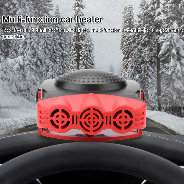 2 En 1 12V 150W dégivreur de chauffage de voiture Portable Ventilateur de chauffage Dégivreur de pare-brise HB007